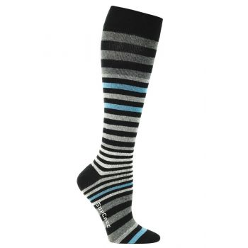 SupCare Mens Support Socks with Multi Stripes 15-21mmHg