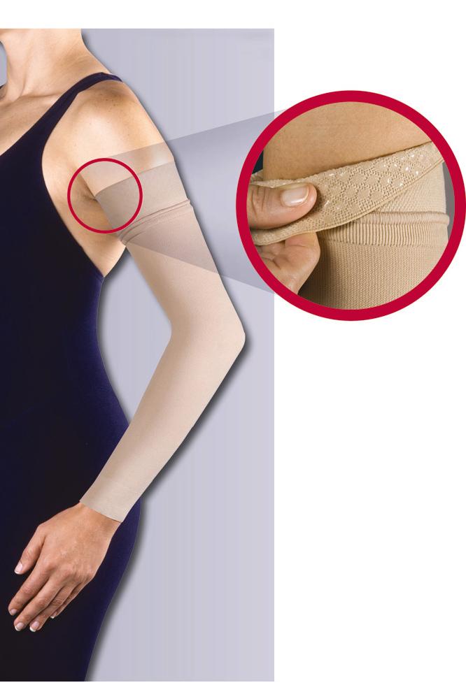 JOBST® Bella Lite Arm Sleeve Support with Silicone Topband 20-30 mmHg Beige Medium Regular