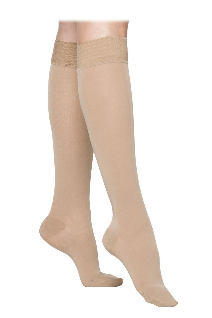 Sigvaris Magic Class 2 Calf Compression Stockings Caramel Small Plus Normal Open Toe