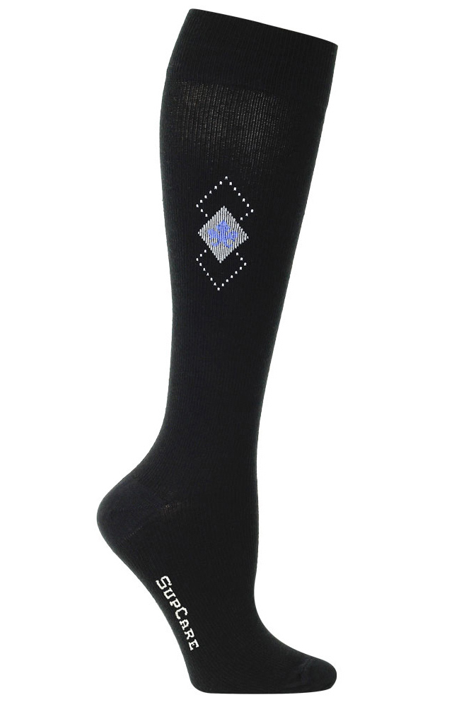 SupCare Mens Support Socks with Diamonds 15-21mmHg